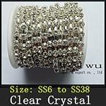 Strass Rhinestone Chain Silver xz019