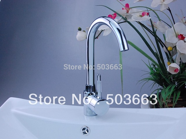PRO Single Hole Kitchen Swivel Faucet Chrome Mixer Tap H-001