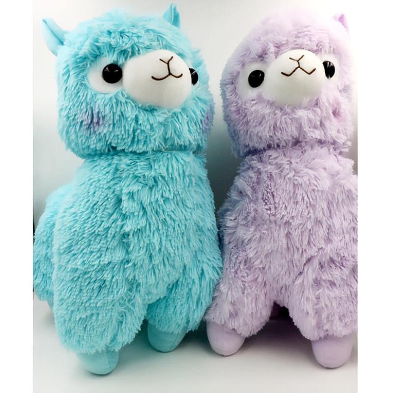New Cute 36cm Japanese Alpacasso Soft Toys Doll Giant Stuffed Animals Lama Toy 5 Colors Kawaii Alpaca Plush Kids Christmas Gift(China (Mainland))