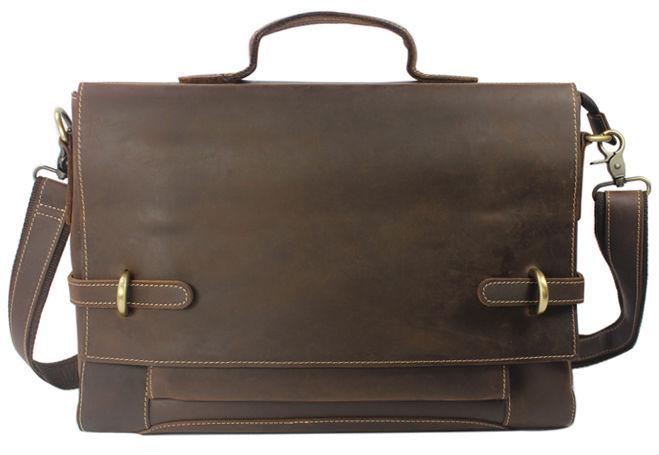 Vintage Crazy Horse Genuine Leather Messenger Bag Men Leather shoulder Bags Men Crossbody bag Tote Briefcase Business Sling Bag(China (Mainland))