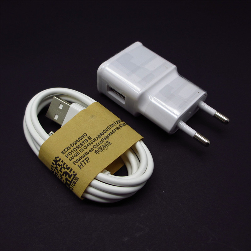 1 Set white EU 5V 2A USB Wall travel Charger + Micro USB Data Sync Charging Cable for Samsung Galaxy S2 S3 S4 HTC Sony Charger(China (Mainland))