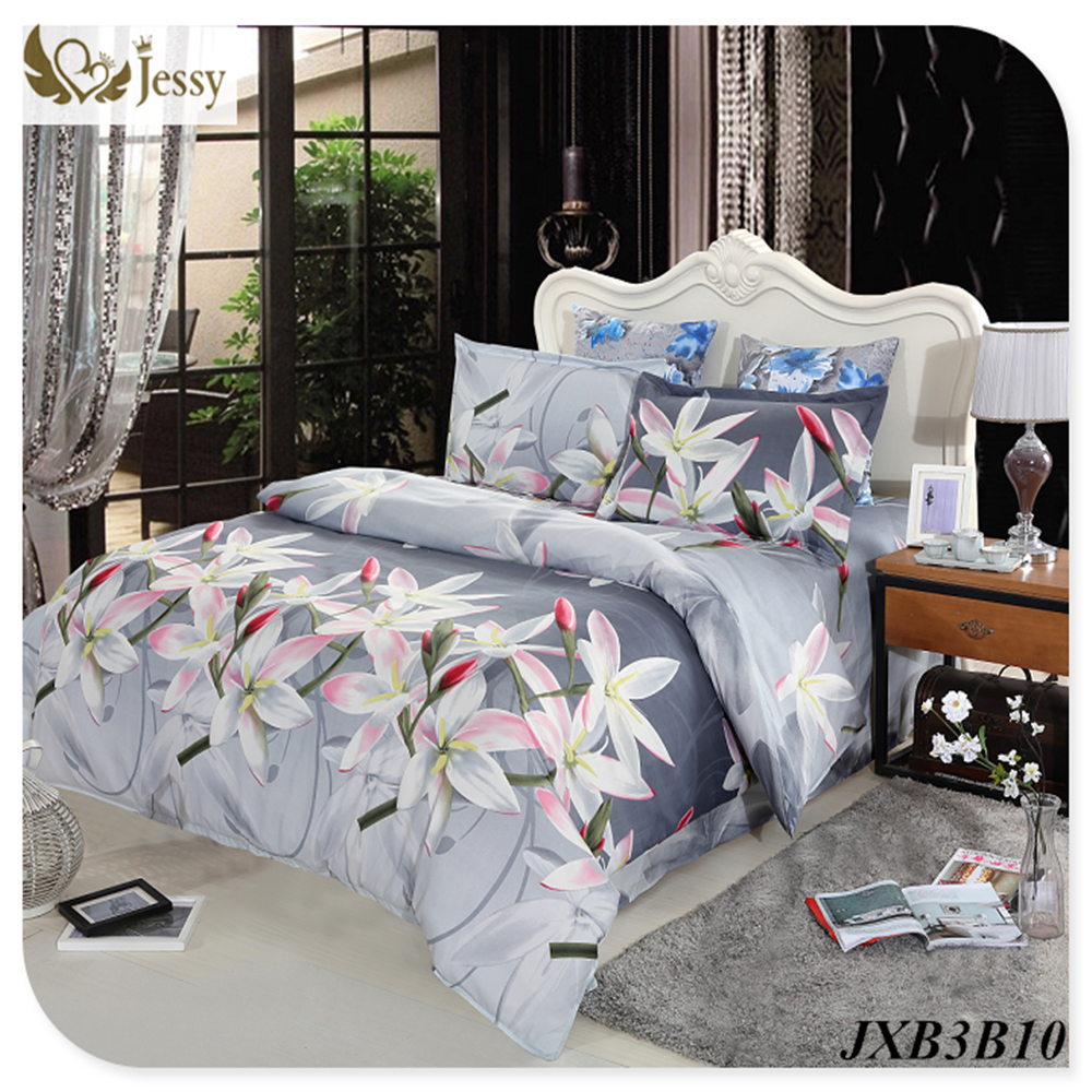 Luxury Washed 100% polister luxury bedding set 3d anmail tiger peacock bedding queen king size(China (Mainland))