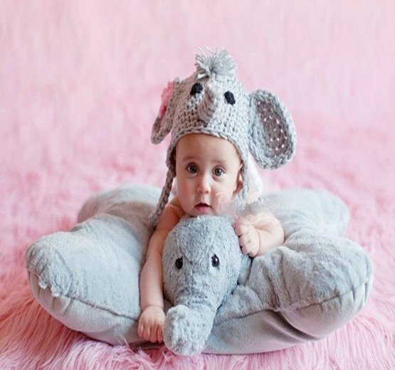 NEW elephant design cap warm hat /Style Cap/newborn knit hats/pattern crochet baby hat free shipping(China (Mainland))