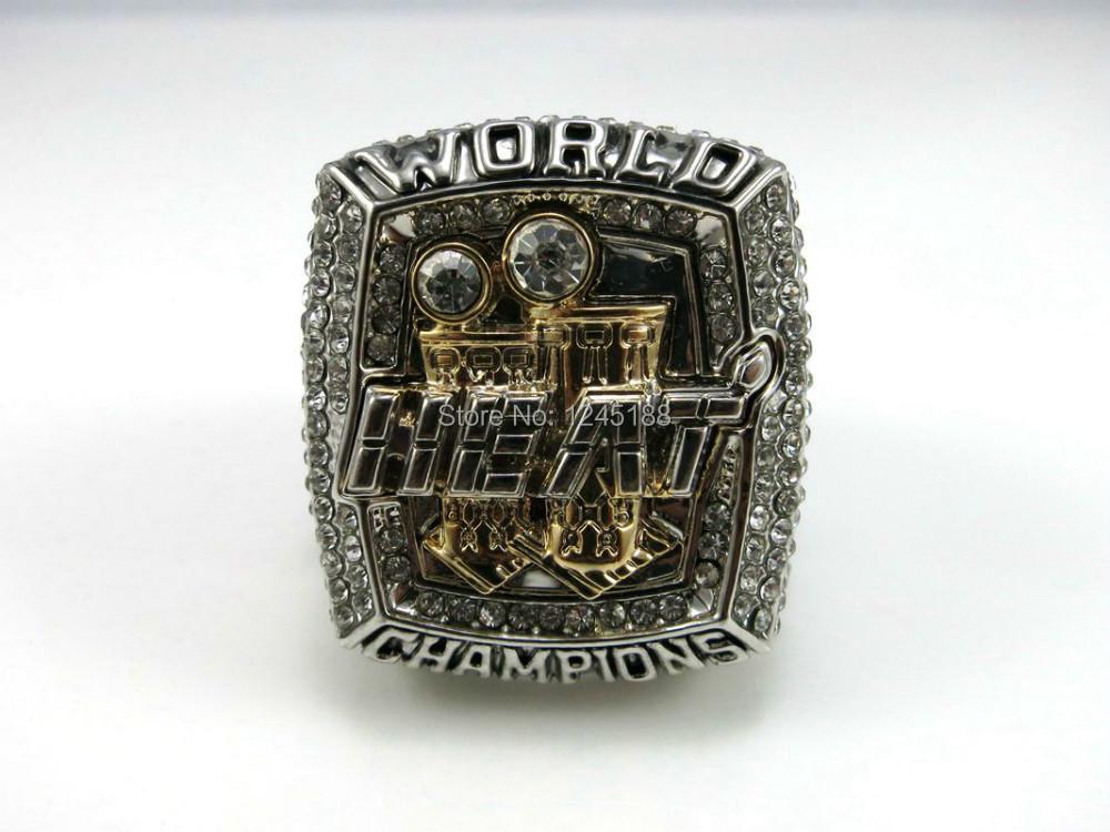 Free shipping! Replica 2013 Miami Heats LeBron Jame Souvenir Basketball Championship Ring Size 10 Weight 90g(China (Mainland))