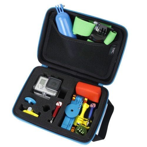 Portable EVA Storage Camera Bag Case for GoPro HD Hero 3+ Hero 3 Size: 23cm x 17cm Outdoor Carry Camera Box Blue(China (Mainland))