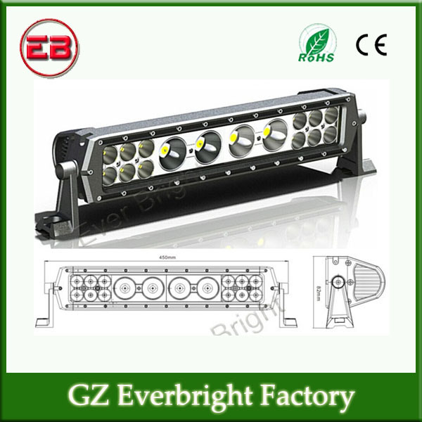 1PC Free shipping 10-30 V DC 17.7inch 76W Mix 3W and 10W CREE Chip Led Light Bars Led Work Light Bar For Trucks Offroad(China (Mainland))