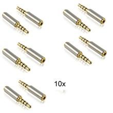10 шт. 2.5 мм штекер 3.5 мм женский стерео аудио разъем для стереонаушников конвертера переходники