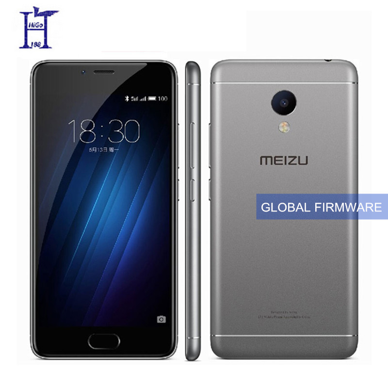 "Original international version Meizu M3S Mini Mobile Phone 2GB/3GB RAM 4G LTE MT6750 Octa Core 5.0"" 13MP 3020mAh Fingerprint(Hong Kong)"