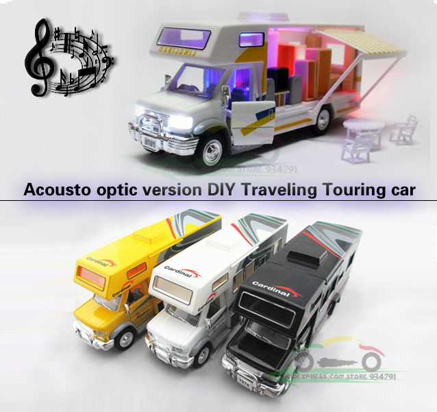 2013 Touring Car Luxury Tourist Bus Mini Kids Acousto-optic Toys Car Classic Alloy Antique Car Model Wholesale Free Shipping(China (Mainland))
