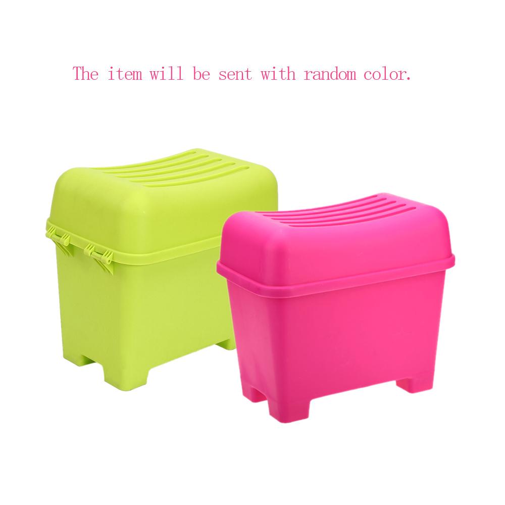 High Quality Creative Large Capacity Plastic Containers Plastic Storage Box Bins Stool Organizers New Hot(China (Mainland))