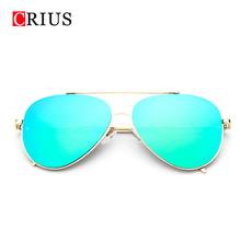 Brand CRIUS 2016 new men's sunglasses for women sun glasses oculos de sol feminino vintage metal big frame design mirror(China (Mainland))