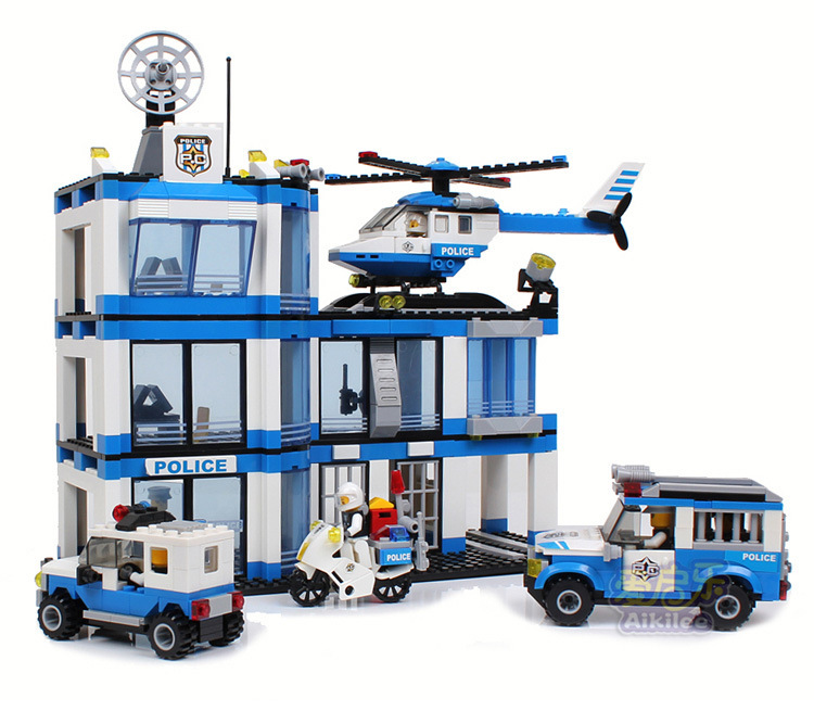 Police Toys For Boys : Pcs police station learning education maritime building