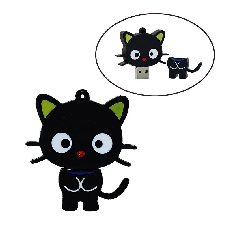Cute Cartoon Cat USB Flash Drive Memory Stick Pendrive USB Stick Pen Drive 32GB 16GB 8GB