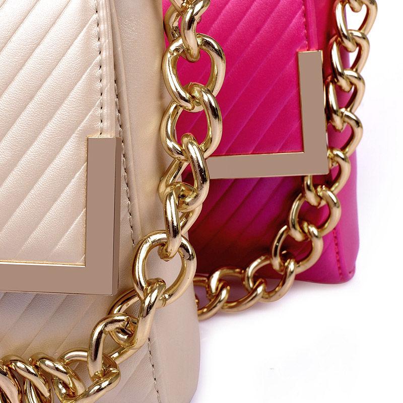 Trendy Striped Flap Bag 2016 New Luxury Noble Chain Bag Fashion Small Crossbody Bag Women Elegant Designer Shoulder Bag