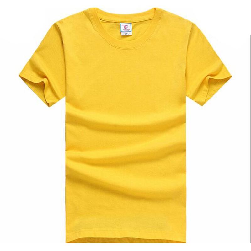 Free Shipping 10pcs/Lot DIY Crew Neck tshirt 100% Cotton Blank T-Shirt Men's Solid Plain t shirt Slim Shirt Size M-3XL