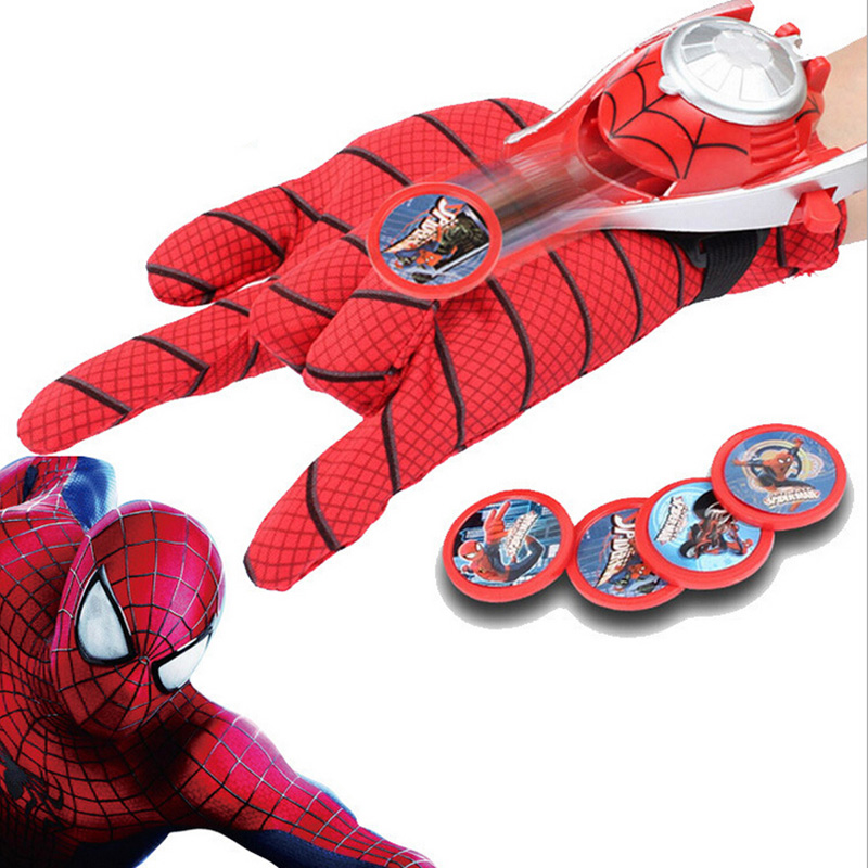 Spiderman Launchers Costume Spider-man Glove Spider man joker venom naruto plush Collection Model Doll toys(China (Mainland))