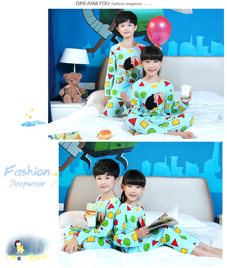 Children Clothes Autumn & Winter Pyjama Long Sleeve Pajamas For Girls Pijamas Kids Suit Set Boys Sleepwear Girls Pajamas Home