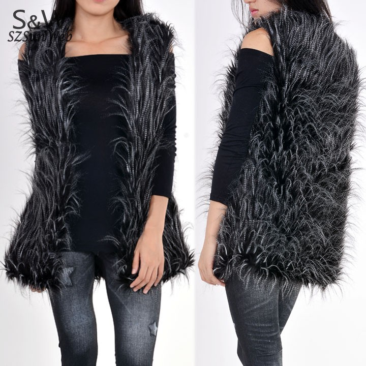 2014 Top Fasion Freeshipping Button Solid Design Female Fox Fur Vest Leather Outerwear Plus Size Women Coat 34 - Shenzhen Sunweb Technology Ltd. store