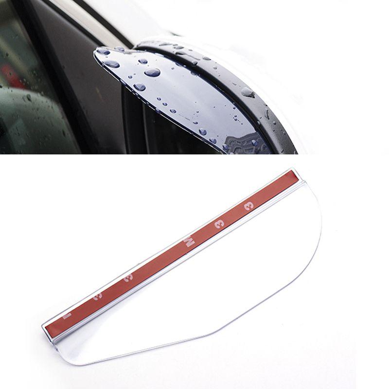 Universal Flexible PVC Car Rain Eyebrow Mirror Rain Shade Rainproof Blades Car Back Mirror shield Rain Cover Accessories 1 pair<br><br>Aliexpress