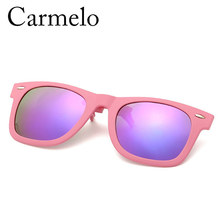 2016 Hot Sell Carmelo New Fashion Colorful Clamping Piece Women Men's Driving Plastic Frames Polarized Cool Clips CM#HP806