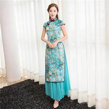 Buy New Arrival Fashion Satin Rayon Long Cheongsam Chinese Women's Dress Elegant Qipao Vestidos Size S M L XL XXL XXXL 27586A for $54.00 in AliExpress store