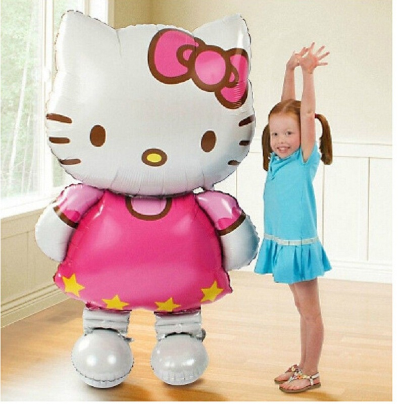 Гаджет  Oversized Hello Kitty Cat foil balloons cartoon birthday decoration wedding party inflatable air balloons Classic toys None Дом и Сад