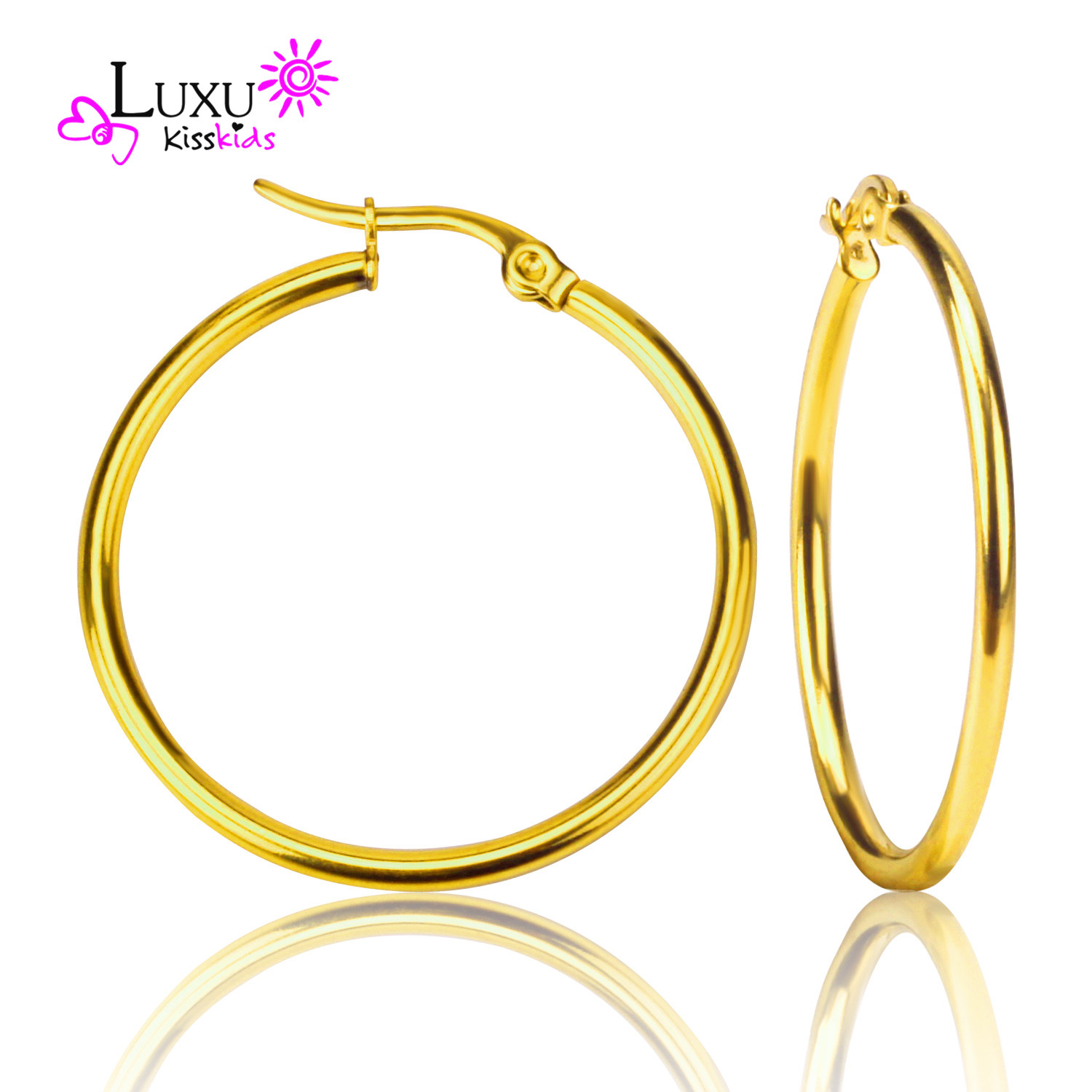 2017 New Fashion Cheap Party Jewelry Women Earring Gold Plated  Antiallergic Basketball Wives Big