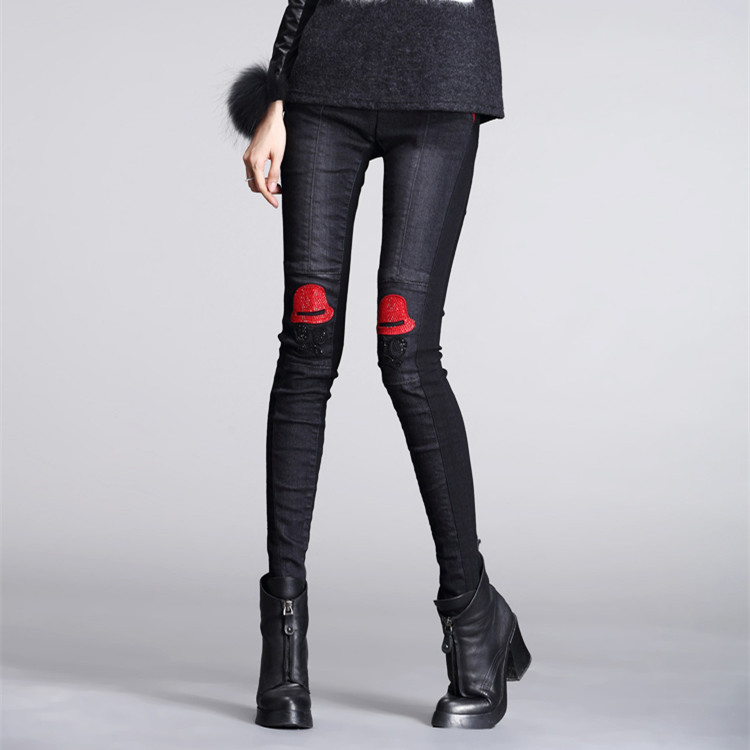 2015 autumn and winter slim plus velvet thickening thermal legging female long trousers fashion(China (Mainland))