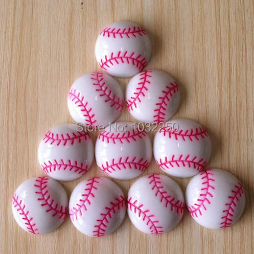 LOT 500pcs Baseball Softball Sports Resin Cabochons Flatbacks Flat Back Girl Hair Bow Center Crafts Embellishments BXT264(China (Mainland))