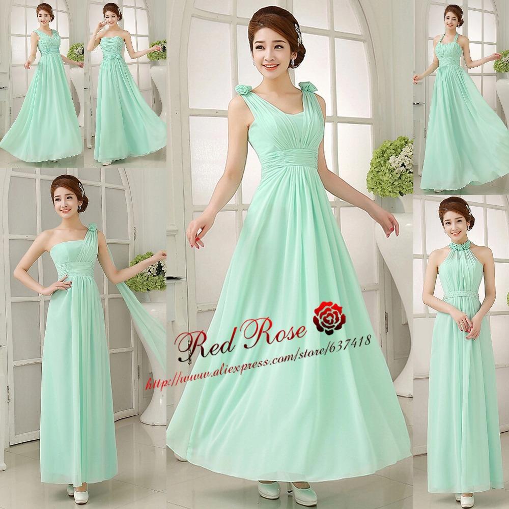 Mint Green Bridesmaid Dresses Long Junior Bridesmaids Dresses Cheap Bridesmaid Dresses under 50 Light Purple Navy Blue(China (Mainland))