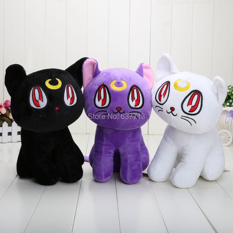 12 inch Japanese Anime Cartoon Sailor Moon Cat Luna Plush Animal Plush Doll Figure Toy(China (Mainland))