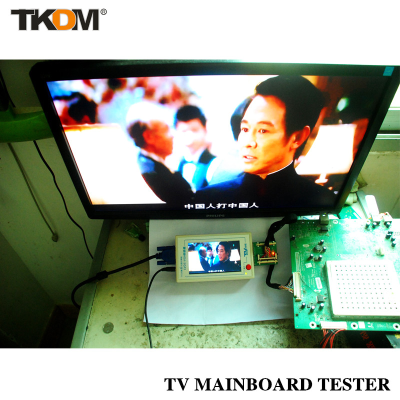 TD New TV160 Full HD LVDS Turn VGA (LED/LCD)TV Motherboard Tester Tools Converter (Display Version)With Five Adapter Plate<br><br>Aliexpress