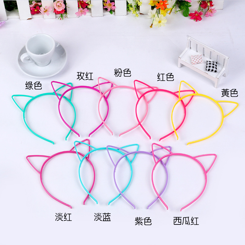 Wholesale plastic hair hoop head hoop cat ears 0.6 CM material ABS manufacturers selling large amount of discount(China (Mainland))