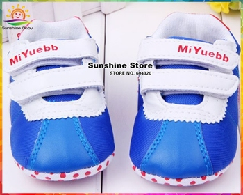Blue 2014 spring fashion Boys shoes for baby with night owl antiskid baby boy children shoes sneakers #2X0020 3 pair/lot