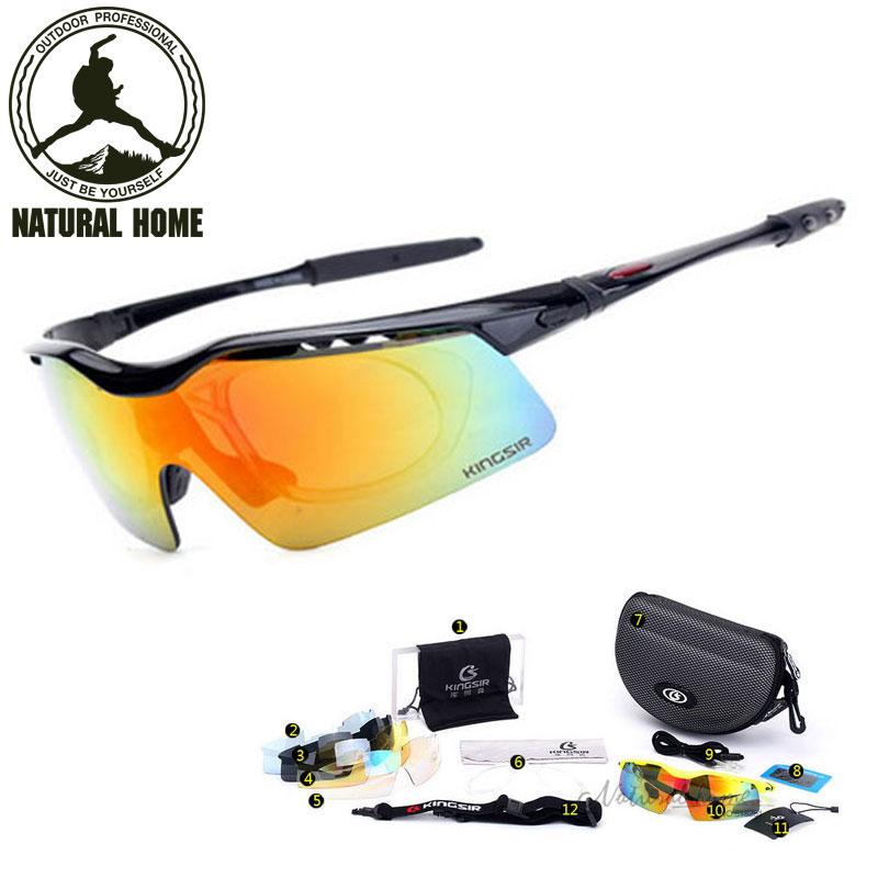 [NaturalHome] Brand Bicycle Bike Sports Polarized Sunglasses 5 Lens Cycling Glasses Gafas Bicicleta Lentes Ciclismo Oculos(China (Mainland))