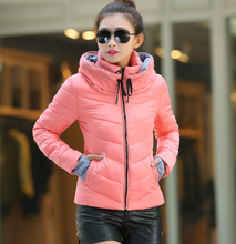 Down winter women jacket short design 2016 winter thickening cotton-padded clothing parka overcoat casual winter coat Plus size