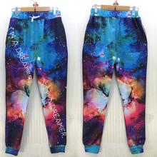 New 3D galaxy joggers for women men beautiful space cartoon sweatpant I'm a dreamer print sport runing pants(China (Mainland))