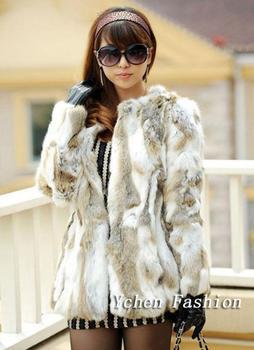 Горячая распродажа натуральный мех пальто зима ручной оригинальные кусочки кролика шубы для женщин зимние меховые куртки бесплатная доставка YC102