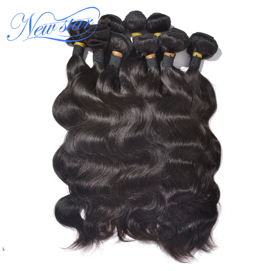 6a aliexpress new star indian virgin human hair extensions body wave weaving weft 10bundles 12-34inch wholesale & free shipping(China (Mainland))