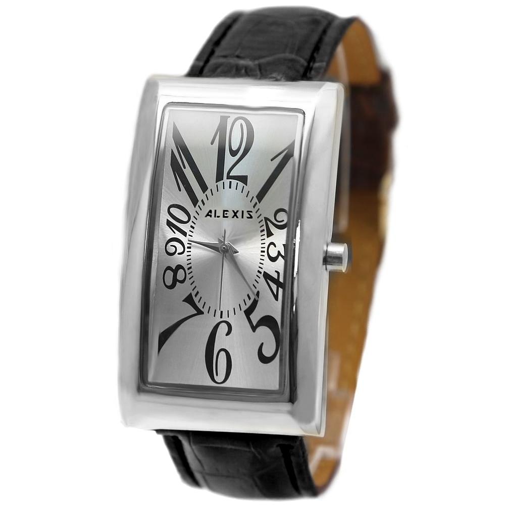 Good Choice Elegant Watches For Men Women New Rectangular PNP Shiny Silver Watchcase ALEXIS Fashion Watch FW594J(China (Mainland))