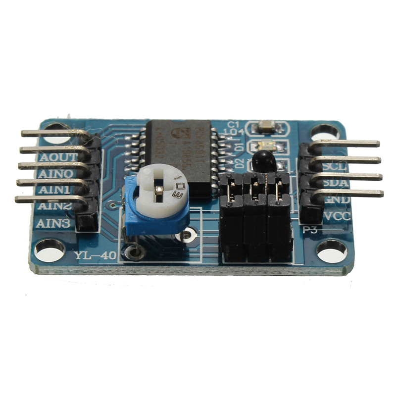 2016 ElectronicCircuit PCF8591 AD/DA Converter Module Analog to Digital to Analog Conversion + Cable 31 x 18mm /1.2 x 0.7 Inch(China (Mainland))