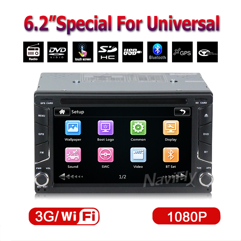6.2'' capacitive screen Car Electronic Car DVD Player GPS Navigation 2din Universal Car Radio In Dash Bluetooth Stereo Video(China (Mainland))