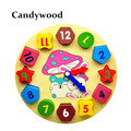 Wooden Blocks toys Digital Geometry Clock Toy Children s Montessori Educational Toy For Baby Boy Girl