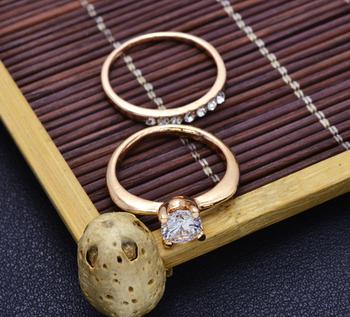 Zircon Golden Ring (2 pcs/Set)