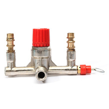 Top Quality Air Compressor Double Outlet Tube Pressure Regulator Valve Holder Fitting(China (Mainland))