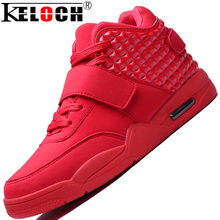 Keloch New Brand Men Shoes Red Suede&PU Leather Men High Top Casual Shoes Summer Cool&Winter Warm Men Casual Shoes Red Botas