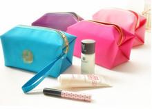 Waterproof handbags New Lady Cosmetic Bag Makeup Folded Bag Purse Pouch Zipper Pen Pencil Brush Case Free Shipping Cosmetic bag