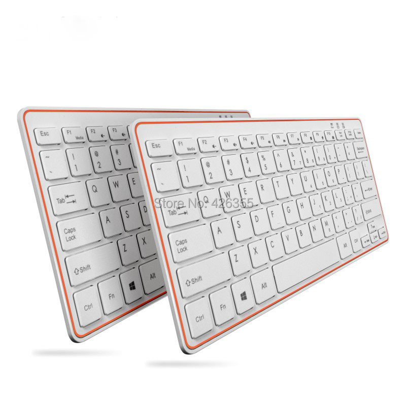 Rechargeable Ultra-thin 2.4G Wireless Keyboard work 2015 laptop,notebook,desktop any computer Free Shipping(China (Mainland))