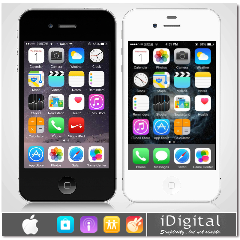 "Original Apple iPhone 4 Factory Unlocked Smart Mobile Phone16GB 32GB IOS 7 3.5"" IPS 960*640 5.0MP 3G WCDMA WIFI GPS Refurbished(China (Mainland))"
