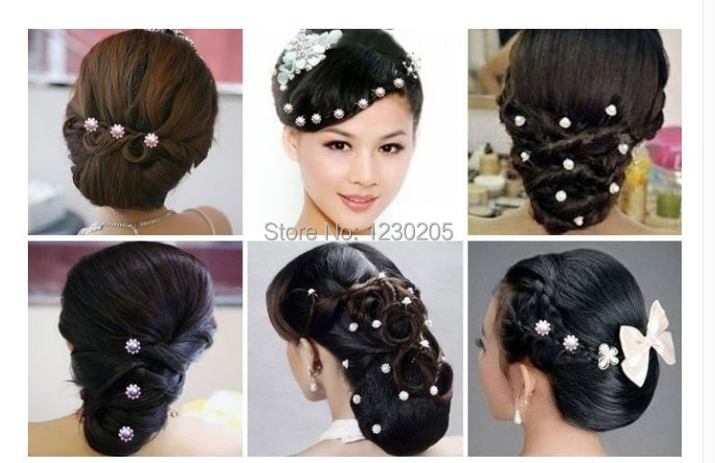 gms164 Bridal Party Wedding Pearl Crystal Rhinestone Hair pin Pins(China (Mainland))